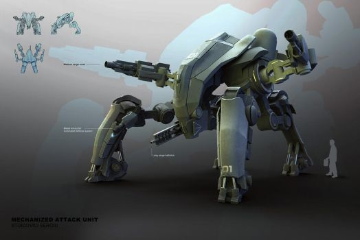 M.A.U. Mech Design by ikarus-tm