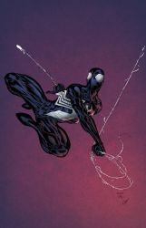 Spidey in black - ColourDood by SpiderGuile