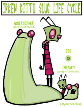Irken Ditto Slug Life Cycle by kittydemonchild