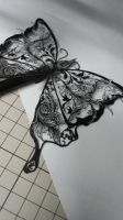 butterfly paper cutting work by Thessatoria