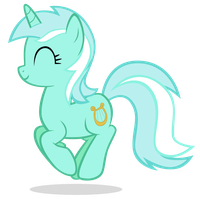 Lyra Jumping Happily by MrLolcats17