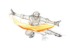 Fire bending by ShadowRealmer