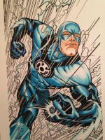Newest copic coloring , Blue Lantern Flash by FlatsNColors