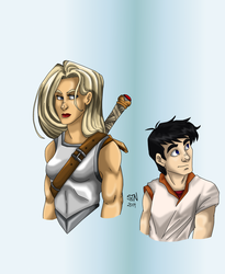 Girl and Guy by SteelFanged
