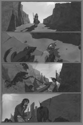 Fight in the Wasteland by SamGarland