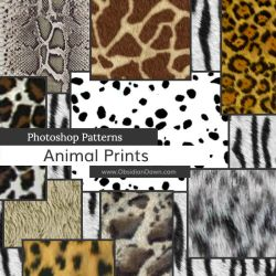 Animal Prints Photoshop Patterns by redheadstock