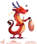 Daily Paint 2037# Mushu by Cryptid-Creations