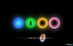 Portal 2 Cores Background by EnderGFX