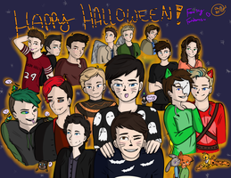 Happy Halloween! [Fandom Collage] by oh-no-Castiel
