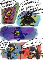 The Lego Movie, doodles by Ayej