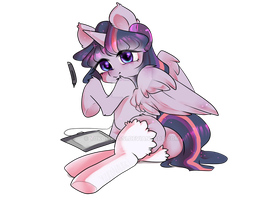 Drawing Twilight (Ops, you found me!) [MLP] by yukomaussi
