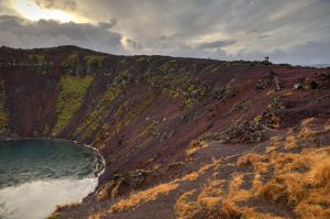 Crater lake Kerid iceland by Dzunk