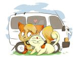 Arcanine and Persian Love- Commission by kidbrainer