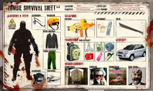 Zombie Survival Sheet by fourte3n