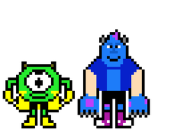 PixarTale Sulley and Mike by ThatGoatAzzy