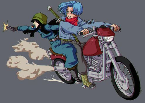 Trunks and Mai by Blood-Splach