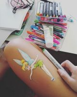Ten minutes sketch on my leg by samiahdagher