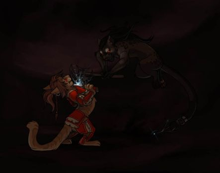 Mountain Fight by AnnieHyena