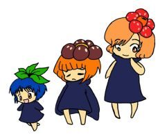 Oddish, Gloom, Vileplume