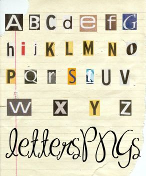 LetterPNGs by demsloppez