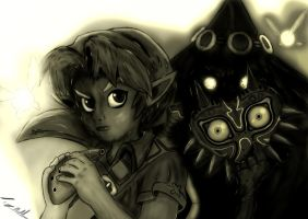 Link And Skull Kid by monobryn47