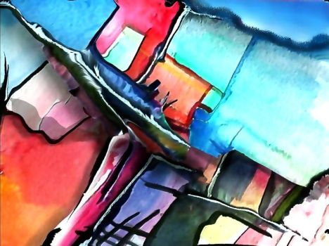abstract aquarell by identic1