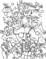 Super DragonBall Z - Inked by TimothyJamesF