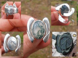 Werewolf ring with hidden seal by fairyfrog