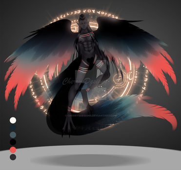 (closed) Auction Adopt - Arcane Harpy 8 by CherrysDesigns