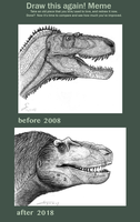 draw this Daspletosaurus again 2008 vs 2018 by ShinRedDear