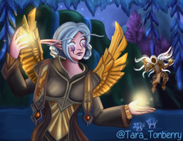 Commission - Nelf Priest - WoW Character Portrait by TaraOBerry
