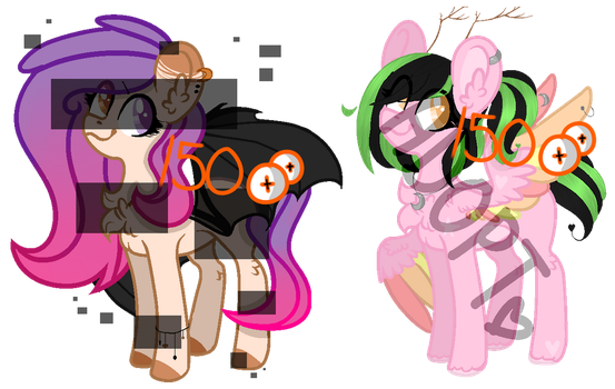 MLP OC - collab adopts (set price: 2/2 OPEN) by LittleFox-Inori-Chan