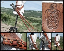 Baldric with Double SideSword Renaissance Scabbard by Adhras