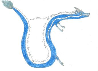 The blue and white dragon by BlackHorse9