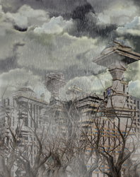 Terrible Horribe No Good Day for Ruined Starbase by mylochka