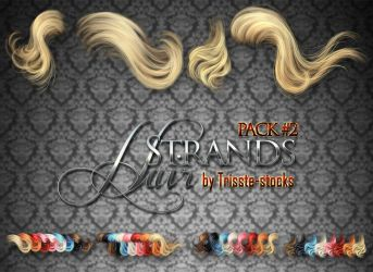 Hair strands pack #2 STOCK by Trisste-stocks
