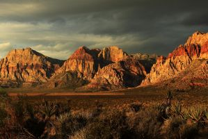 Spring Mountains at Dawn 2 by Celem