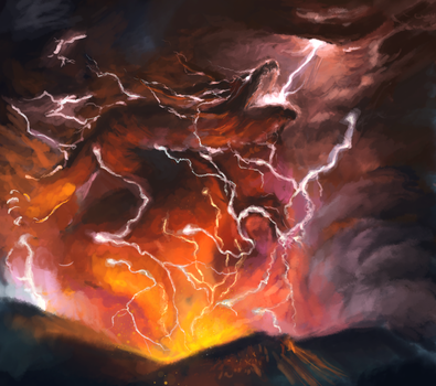 Volcano Dragon by Eliminate