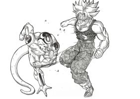 Trunks vs Frieza by Blood-Splach