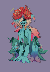 Floran from toxic/radioactive planet|Starbound by Bloomy-chan