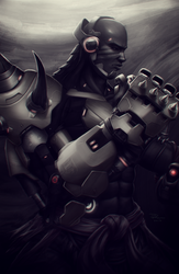 Doomfist (Overwatch) by DigiFlohw