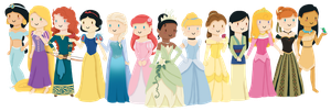 Disney Princesses v2.0 by KatNap8181