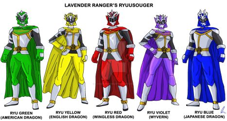 My own Ryuusouger by LavenderRanger