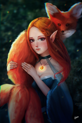Beauty and the Fox by FitaroArt