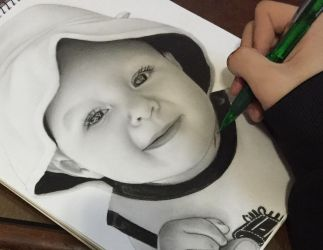 Baby drawing  by mayrushart