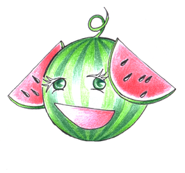 Eared Watermelon by irbi-art