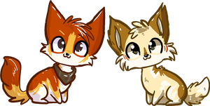 Chibis- For DorteTorte by JB-Pawstep