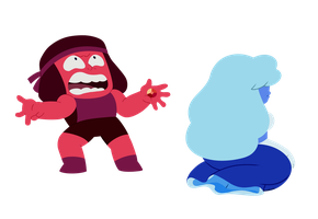 Ruby and Sapphire burn out by katskratchii