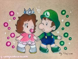 AT: Kimmy and Luigi! by superbabymariolove