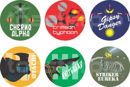 Pacific Rim Buttons set 1 by toasterpip